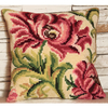 Coussin Point de Croix - Rose Sauvage - Collection d Art - Code 5010