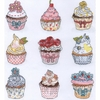 Cup Cakes  Summer XH5 Bothy Threads