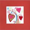 Carte à broder Arbre aux Coeurs - Riolis 1420AC