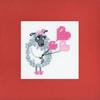 Carte à broder Un amour de brebis - Riolis 1461AC