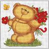 Petit ourson cueille des fleurs  B171  LUCA-S