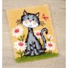 Chat et fleurs  0147934   Vervaco