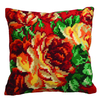 Coussin Point de Croix Rose Chou gauche - Collection d Art - Code CDA-5112