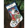 Chaussette  Père Noël et bonhomme de neige  8714
