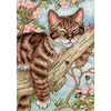 Chaton sommeillant  65090  DIMENSIONS