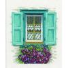 Fenêtre bleu fleurie  0167123  Lanarte