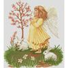 Angelot fille et lapin  LUCA-S  B261