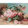 Panier de roses rose  LUCA-S B547