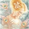 Femme au plume de Paon  0148264  Lanarte