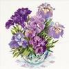 Vase avec iris 1071  RIOLIS