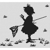 Petite fille et les papillons - Luca-S  B287