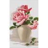Roses roses dans un vase - Luca-S  B507