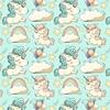 Tissu  Licornes  00019