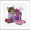 Sewing basket Kitten - Thea Gouverneur 736A