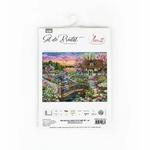 B2379 Fleurs printanières sur le lac - Kit de point de croix Luca-S 1