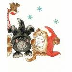 Bothy Threads XMS30 - Merry Catmas - Joyeux Noël - kit point de croix compté - La Brodeuse - 1