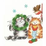 Bothy Threads XMS30 - Merry Catmas - Joyeux Noël - kit point de croix compté - La Brodeuse - 3
