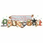 Bothy Threads XMS30 - Merry Catmas - Joyeux Noël - kit point de croix compté - La Brodeuse