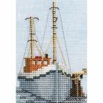 Bothy Threads MIN02 - bateau de pêche - Fishing-Boat-kit point de croix compté - La Brodeuse - 1