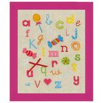 ABC avec bonbons - Vervaco PN-0150883 - Kit broderie point de croix sur www.la-brodeuse.com