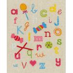ABC avec bonbons (sans cadre) - Vervaco PN-0150883 - Kit broderie point de croix sur www.la-brodeuse.com
