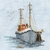 Bothy Threads MIN02 - bateau de pêche - Fishing-Boat-kit point de croix compté - La Brodeuse