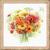 Gerberas multicolores - Riolis 1485 - Kit broderie point de croix sur www.la-brodeuse.com