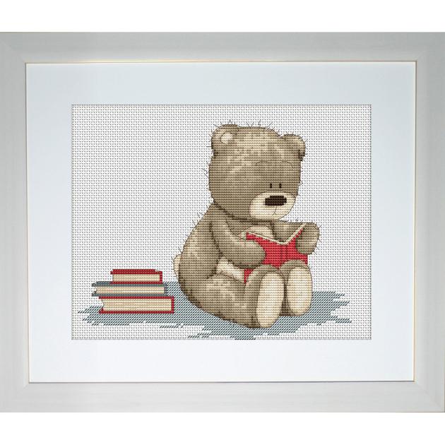 bruno la biblioth que b1025 kits broderie par marque luca s. Black Bedroom Furniture Sets. Home Design Ideas