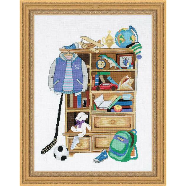 armoire de gar on 1372 kits broderie par marque riolis. Black Bedroom Furniture Sets. Home Design Ideas