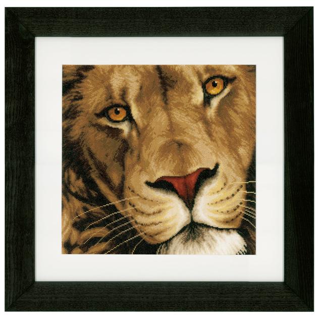 Le lion roi des animaux 0154980 kit de broderie marque lanarte - Animaux du roi lion ...