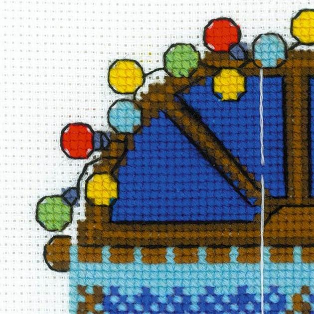 Riolis 1592 fen tre hiver kits broderie par marque for Fenetre hiver
