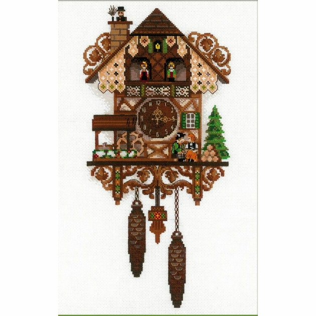 Riolis 1730 Horloge Coucou Kits Broderie Point Compte
