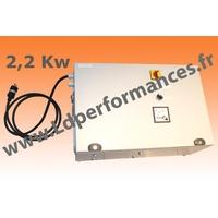 LD CMT NS 2,2-380 coffret monophasé 220V / triphasé 380V + NEUTRE + signal SINUS 2,2KW clé en main