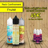 """Pack """"Confinement"""" Fruité 50ml - Clopa Cabana"""