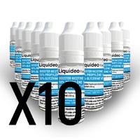 Lot de 10 Boosters de Nicotine 50/50 20mg de Nicotine - Liquideo