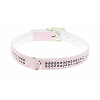 Collier pour Chien Swarovski Fashion Rose 2 Rangs Hunter
