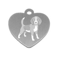 MEDAILLE PERSONNALISEE CHIEN RACE BEAGLE
