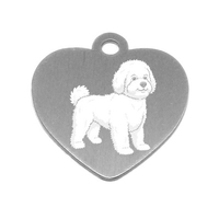 MEDAILLE PERSONNALISEE CHIEN RACE BICHON