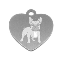 MEDAILLE PERSONNALISEE CHIEN RACE BOULEDOGUE FRANCAIS