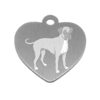 MEDAILLE PERSONNALISEE CHIEN RACE BOXER