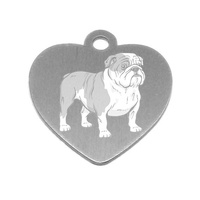 MEDAILLE PERSONNALISEE CHIEN RACE BULLDOG ANGLAIS