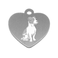 MEDAILLE PERSONNALISEE CHIEN RACE JACK RUSSELL