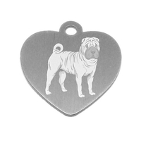 MEDAILLE PERSONNALISEE CHIEN RACE SHAR-PEI