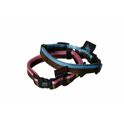 martin sellier collier chien choco bleu rose