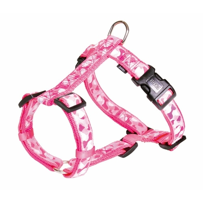 trixie harnais chien camouflage rose