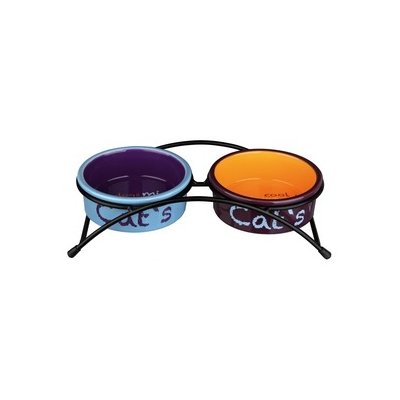 GAMELLE CERAMIQUE CHAT TWINY EX SET EAT ON FEET TRIXIE REF 24791