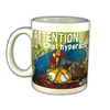 MUG HUMORISTIQUE ATTENTION CHAT HYPERACTIF