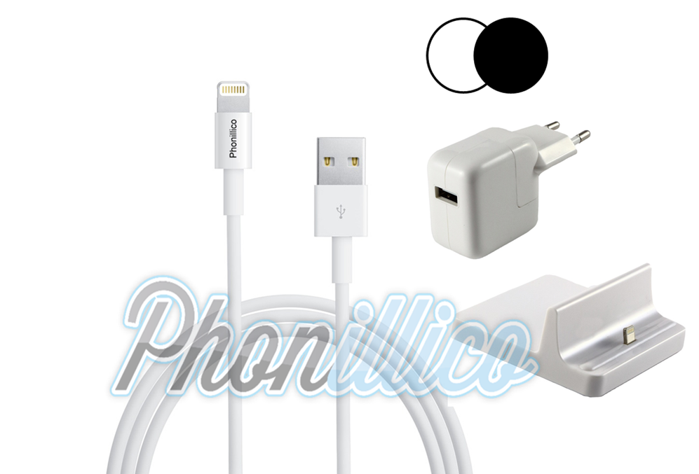 pack dock chargeur pour apple ipad mini 1 2 3 apple ipad mini 1 2 3 phonillico. Black Bedroom Furniture Sets. Home Design Ideas