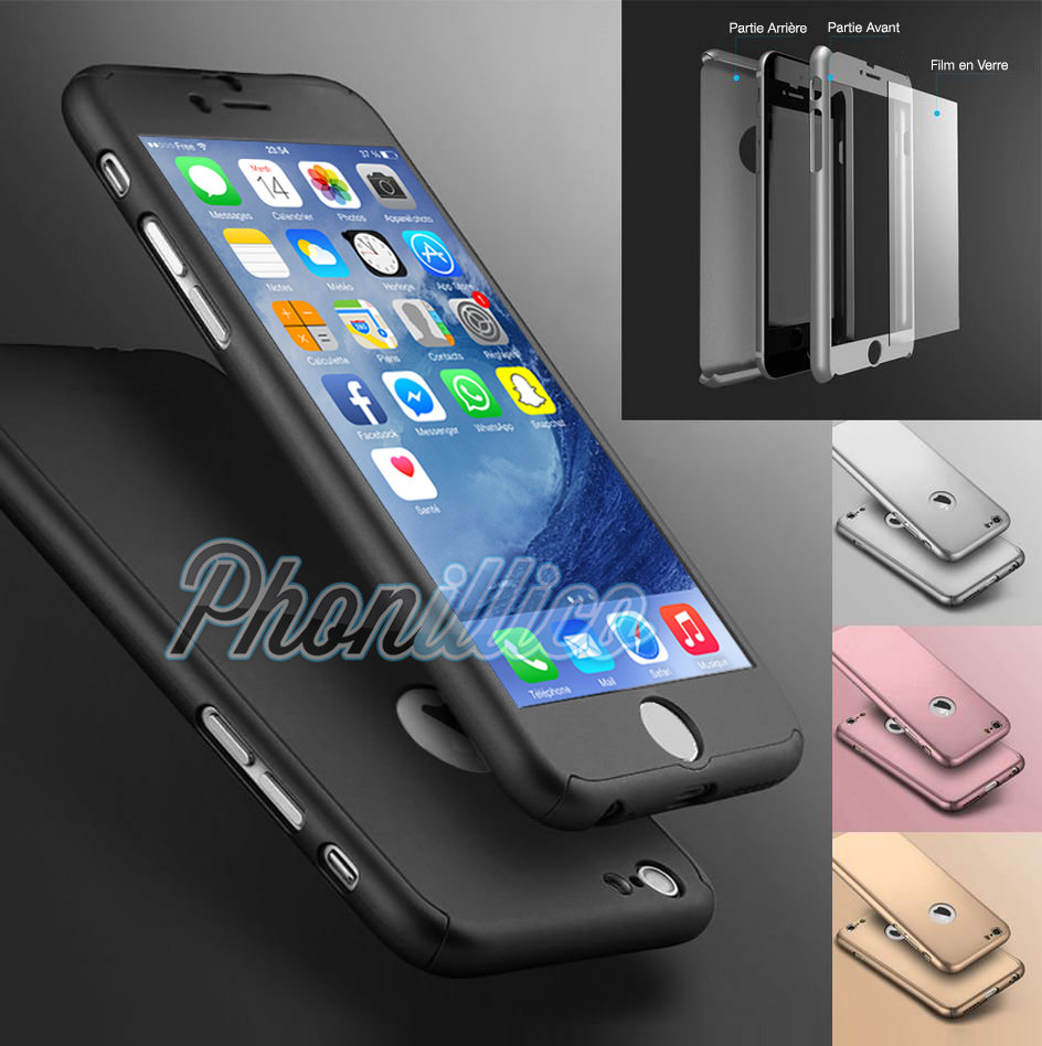 coque verre trempé iphone 7
