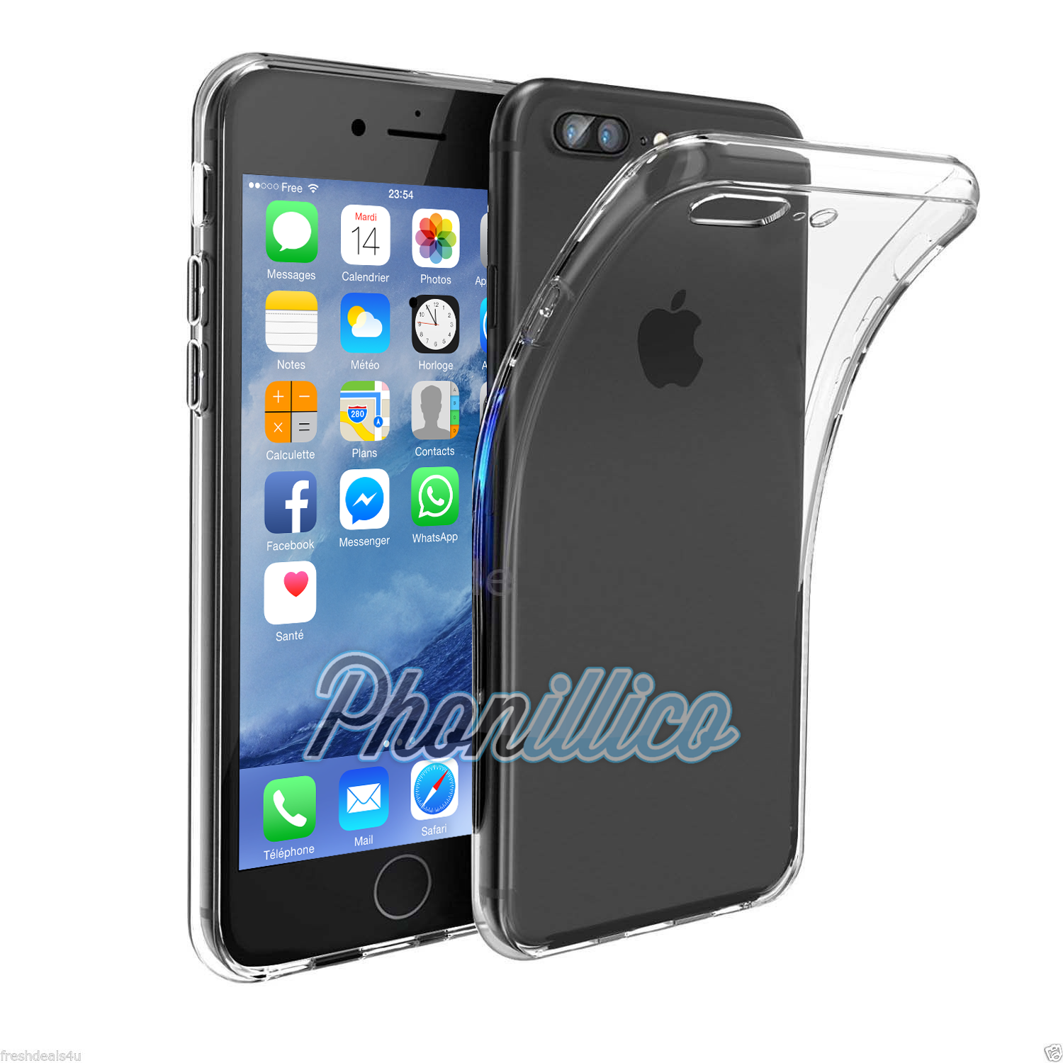 coque housse etui ultra slim tpu transparent pour apple iphone 7 plus apple iphone 7 plus